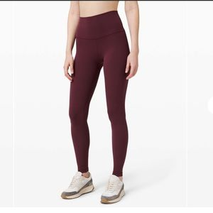 "GUC Lululemon Align 28"" High Rise Red Size 4"